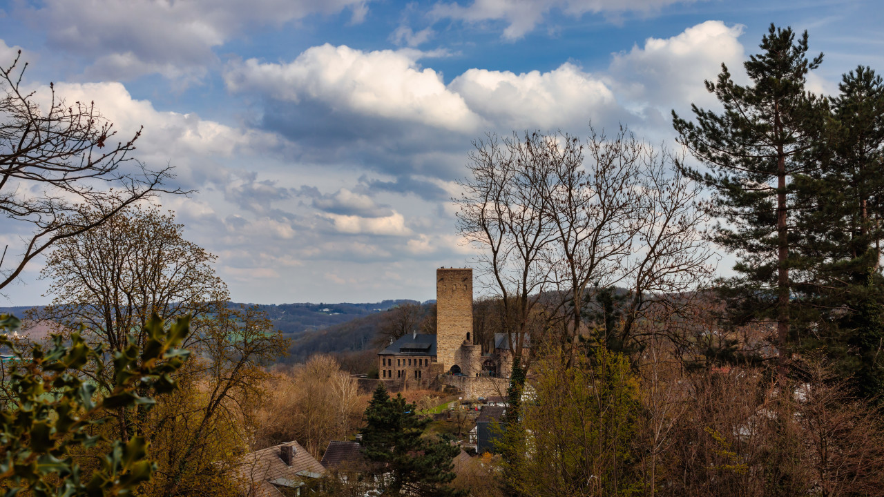 View of castle Blankenstein in Hattingen
