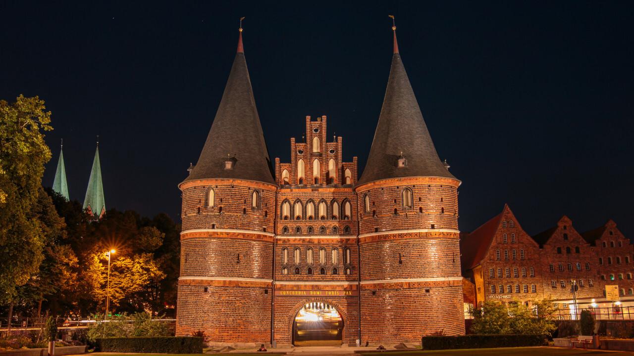 Holstentor in Schleswig Holstein at Night
