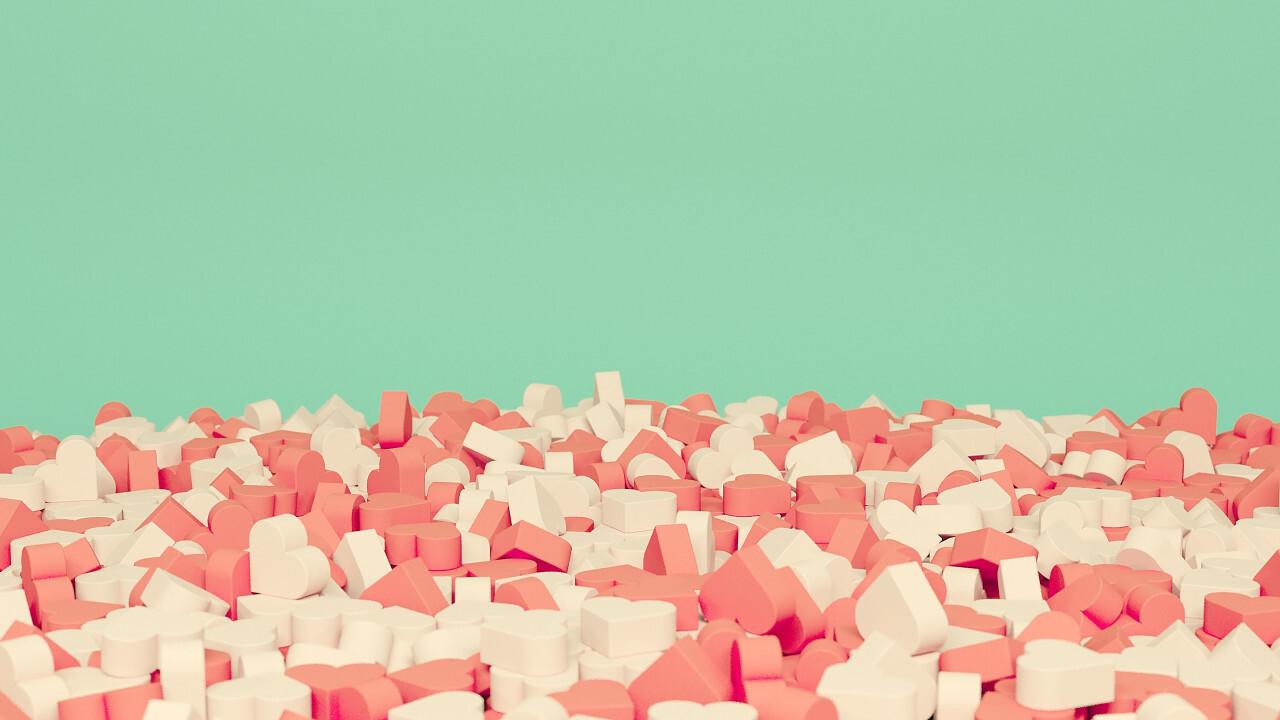 pink sugar hearts