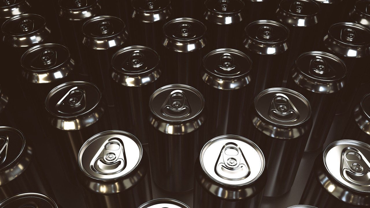 Aluminum beer cans