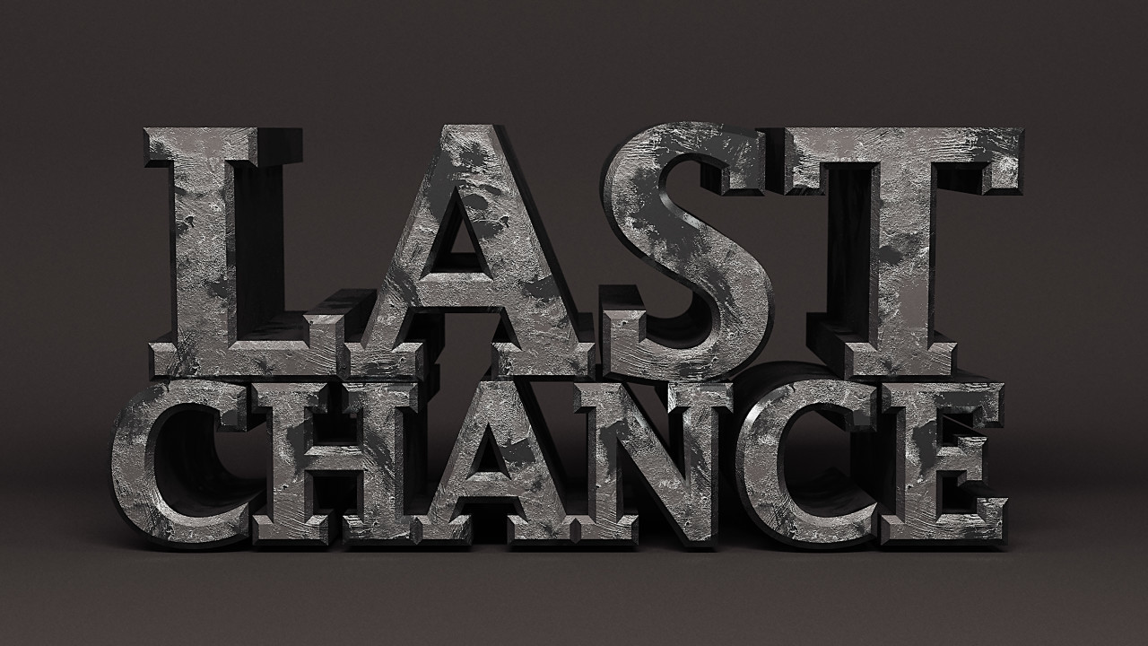 last chance iron word
