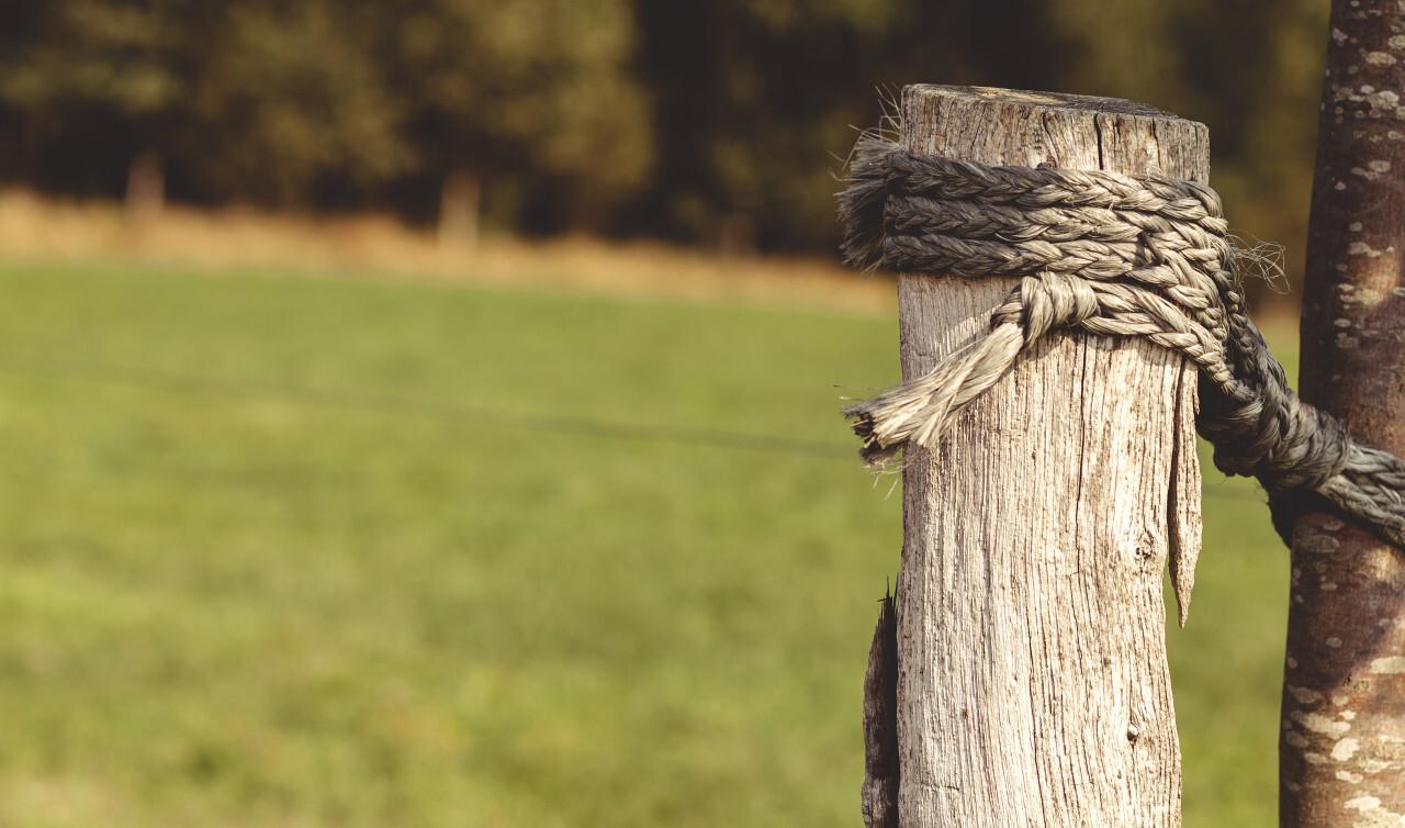 rural fencing post