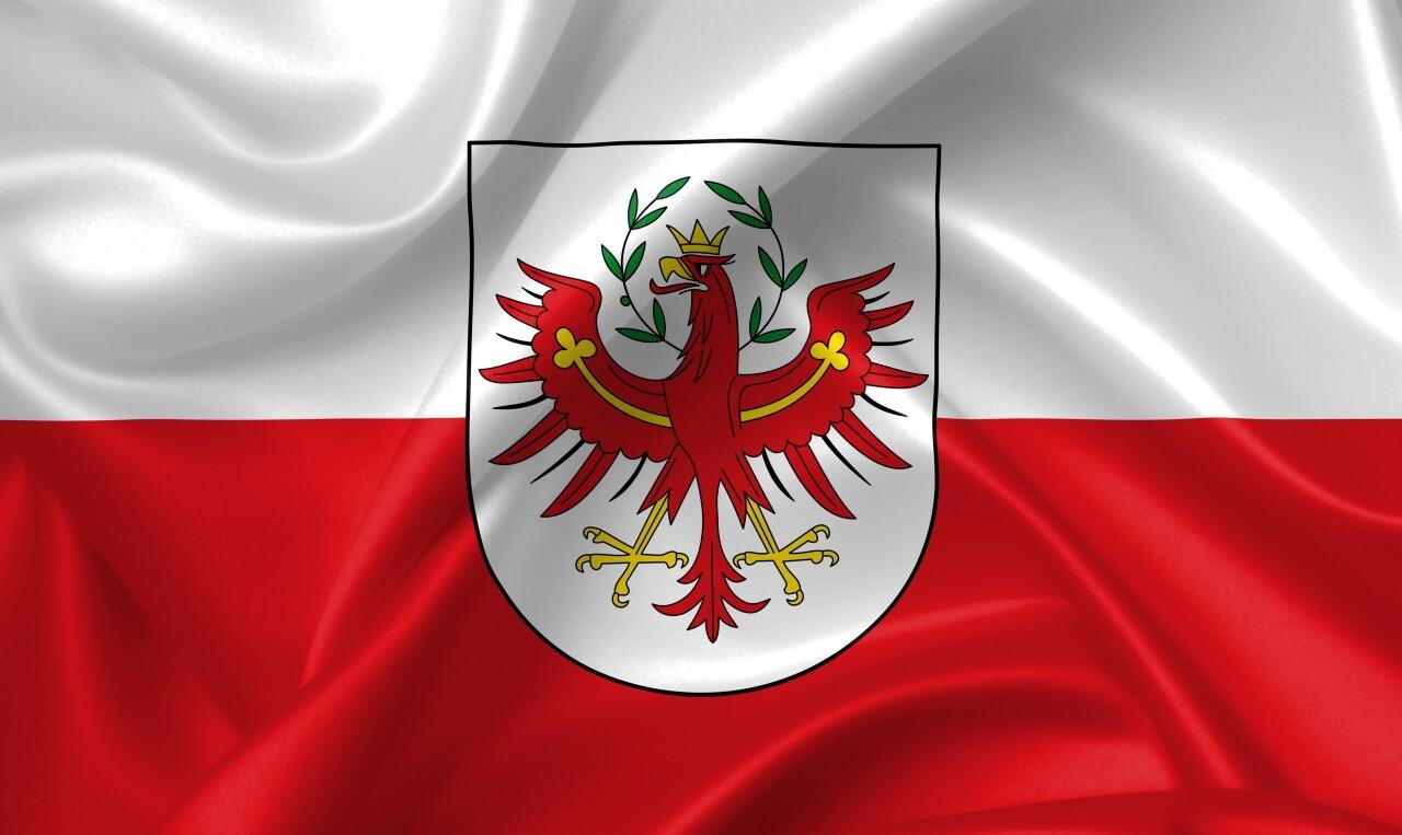 flag of tyrol country symbol illustration