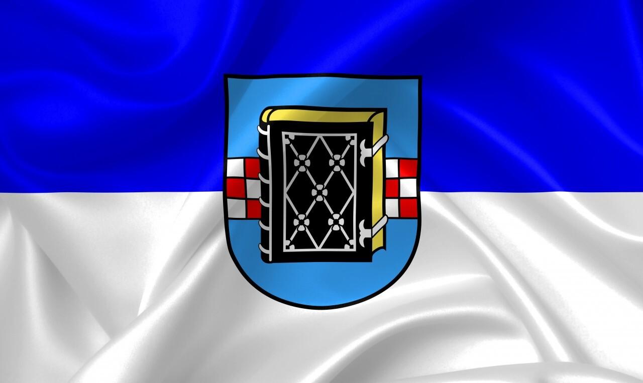 Flag of Bochum in North Rhine-Westphalia, Germany Illustration