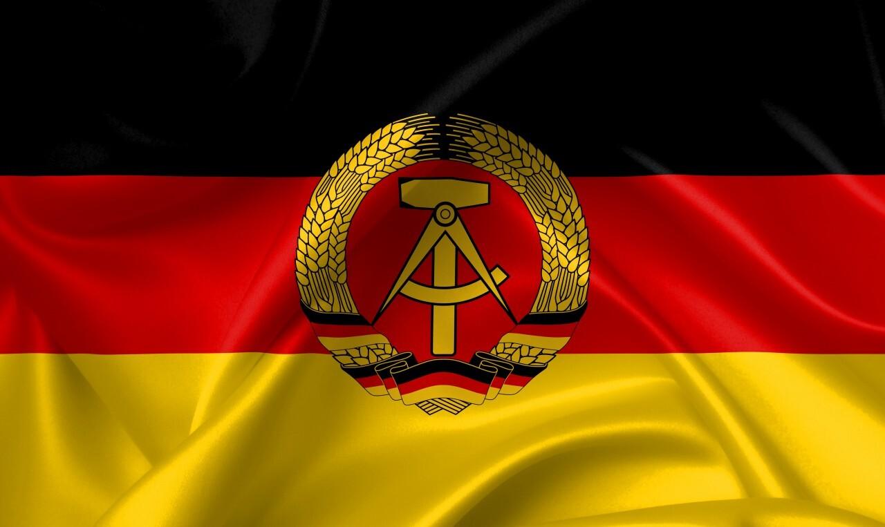 flag of the german democratic republic - DDR, country symbol illustration