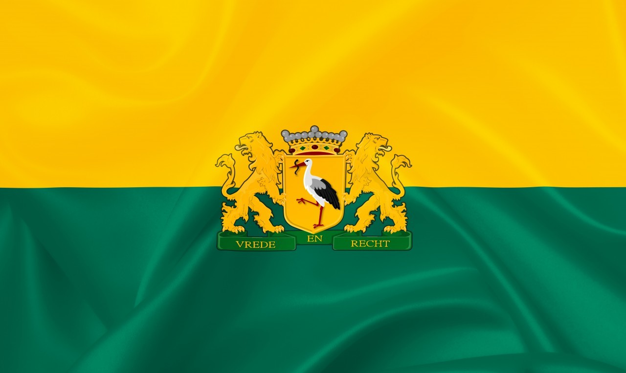 Flag of The Hague of Netherlands Illustration