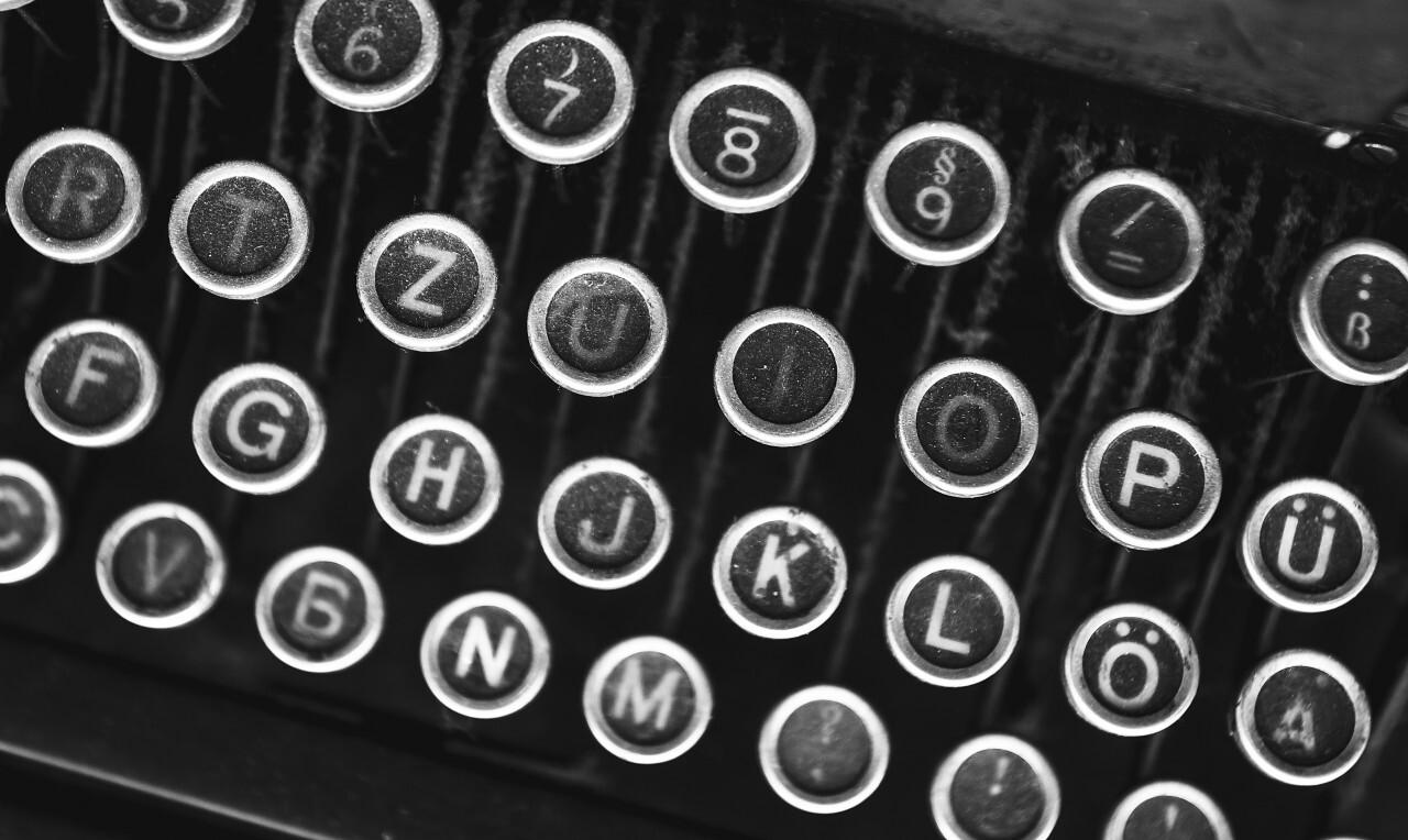 dusty keys of an old typewriter