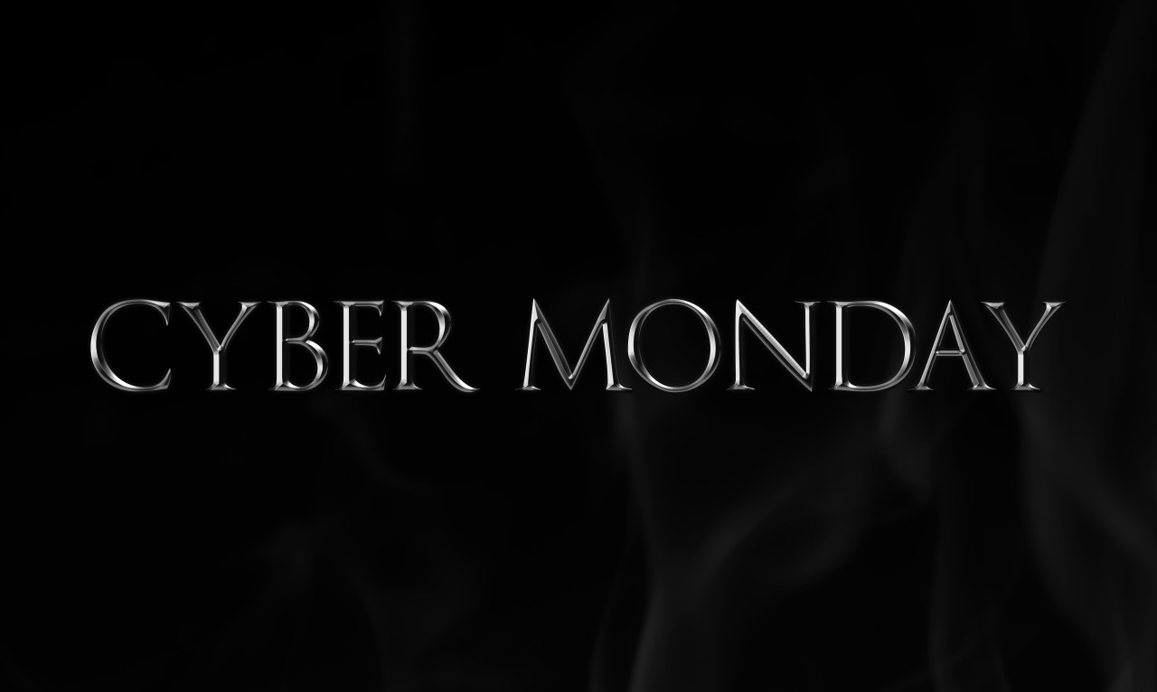 Cyber Monday sale banner silver