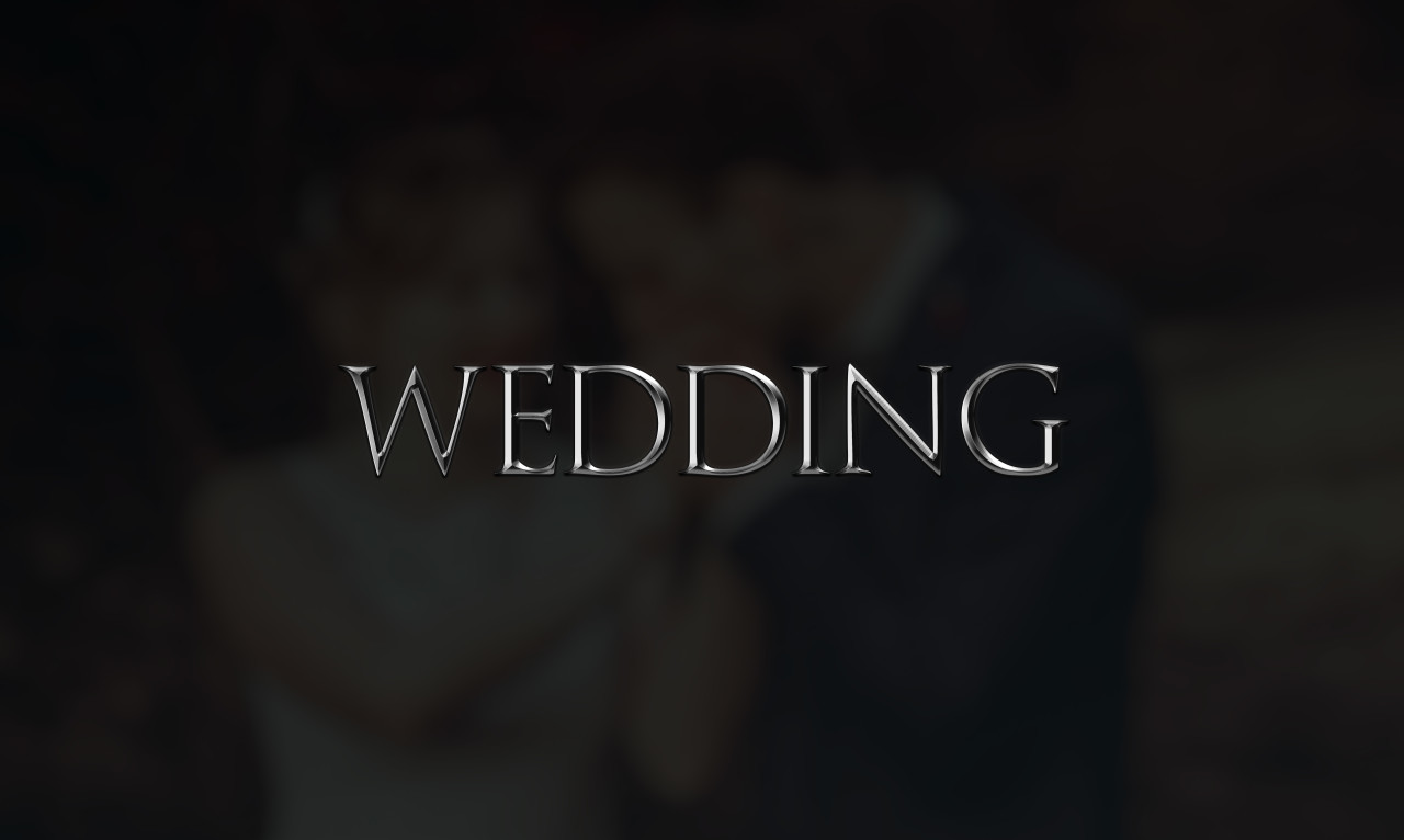 wedding as a word on black background