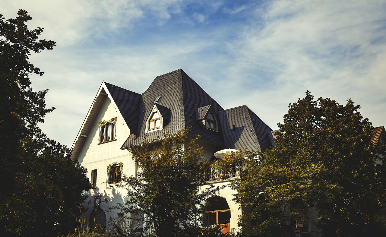 beautiful old german white villa
