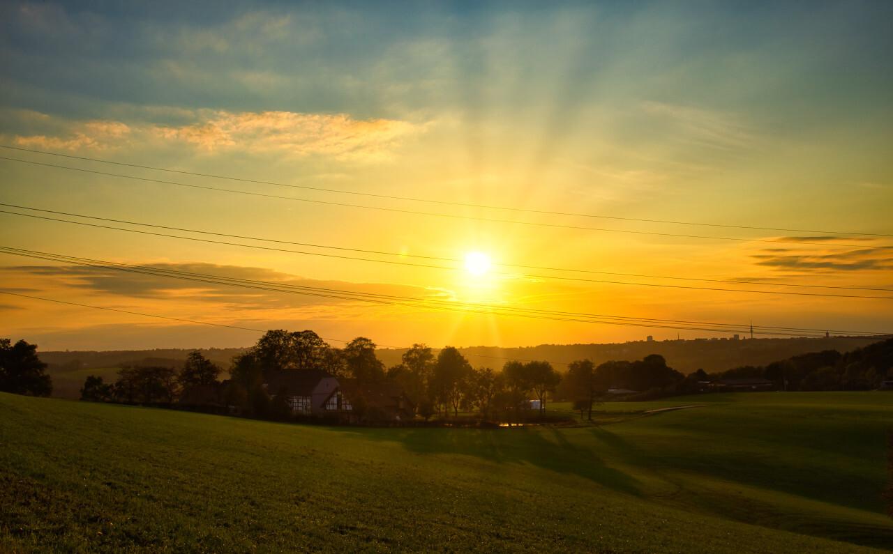 Rural sunset scenery