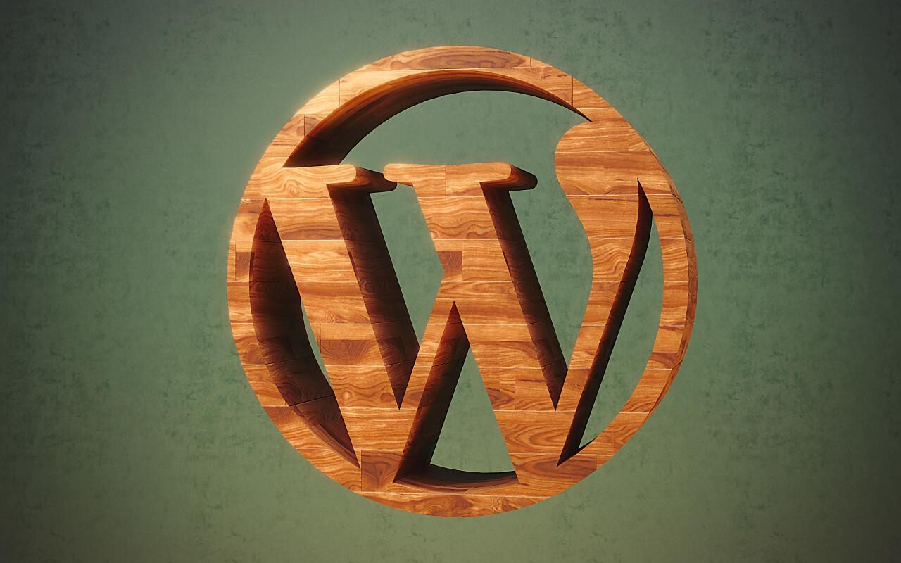 wordpress wooden logo