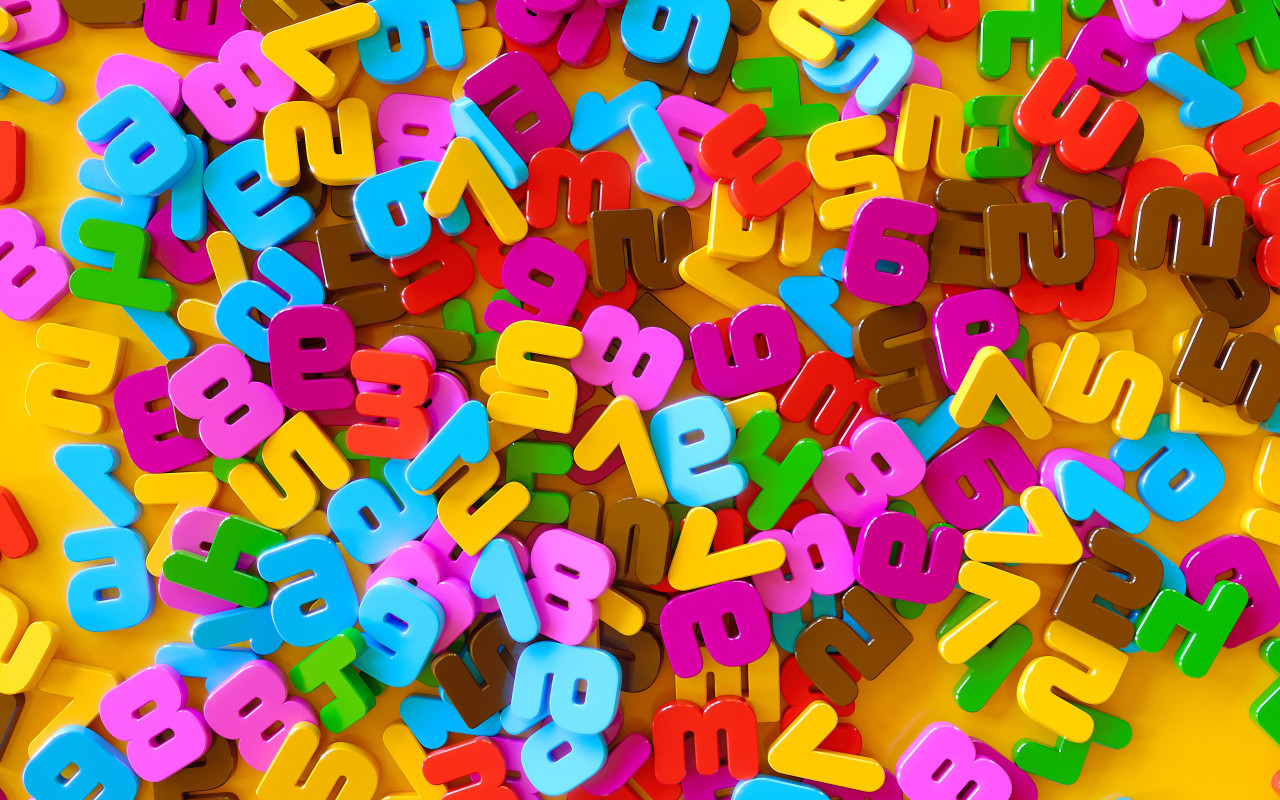 colorful numbers salad background