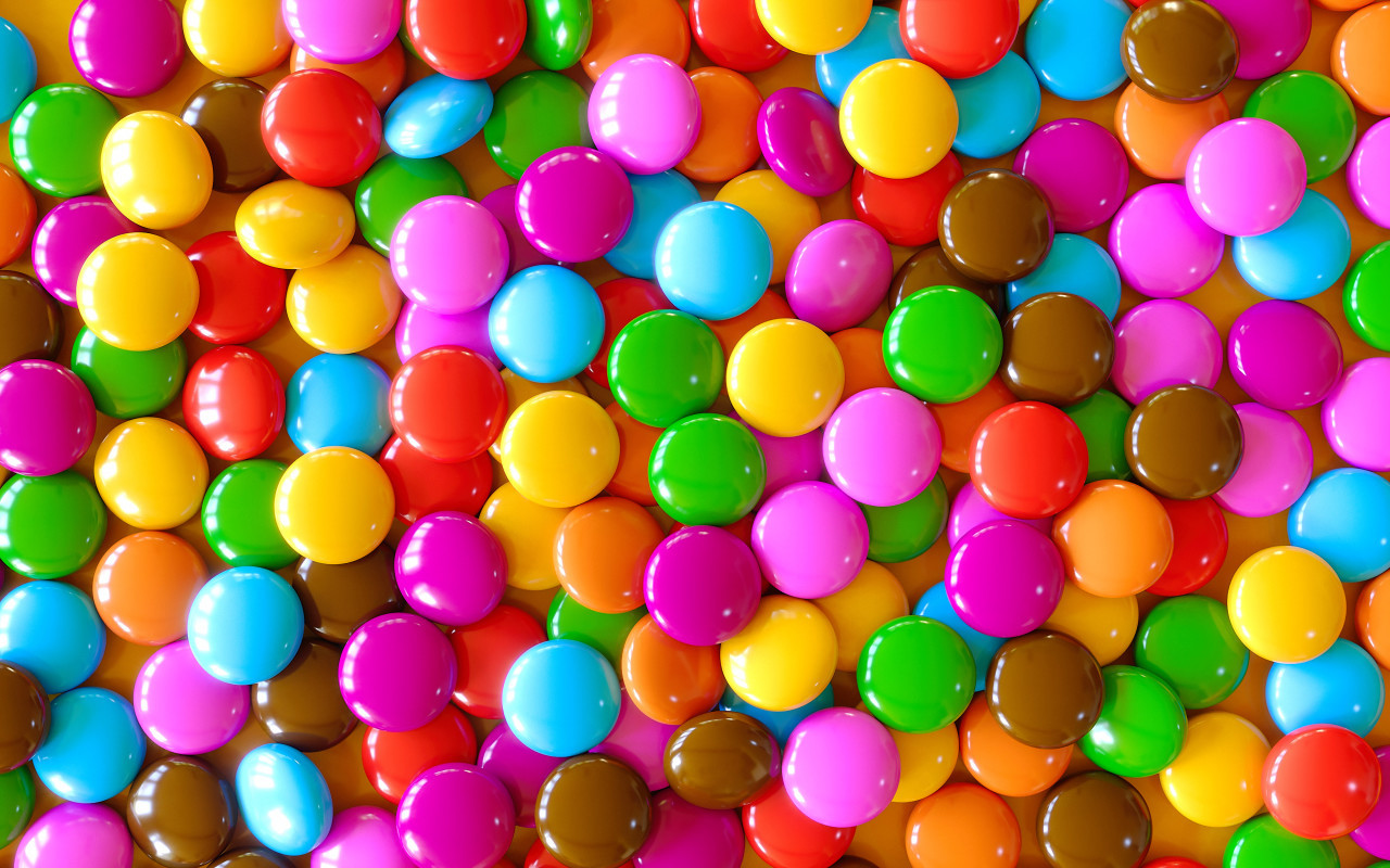 colorful candy chocolate lentils background