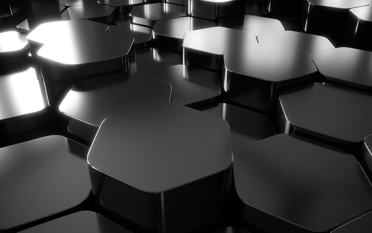 3D lozenge texture background black