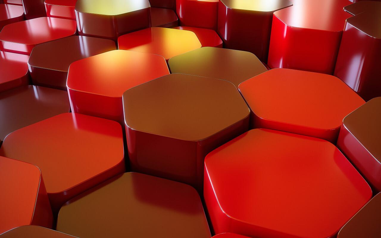3D lozenge texture background red