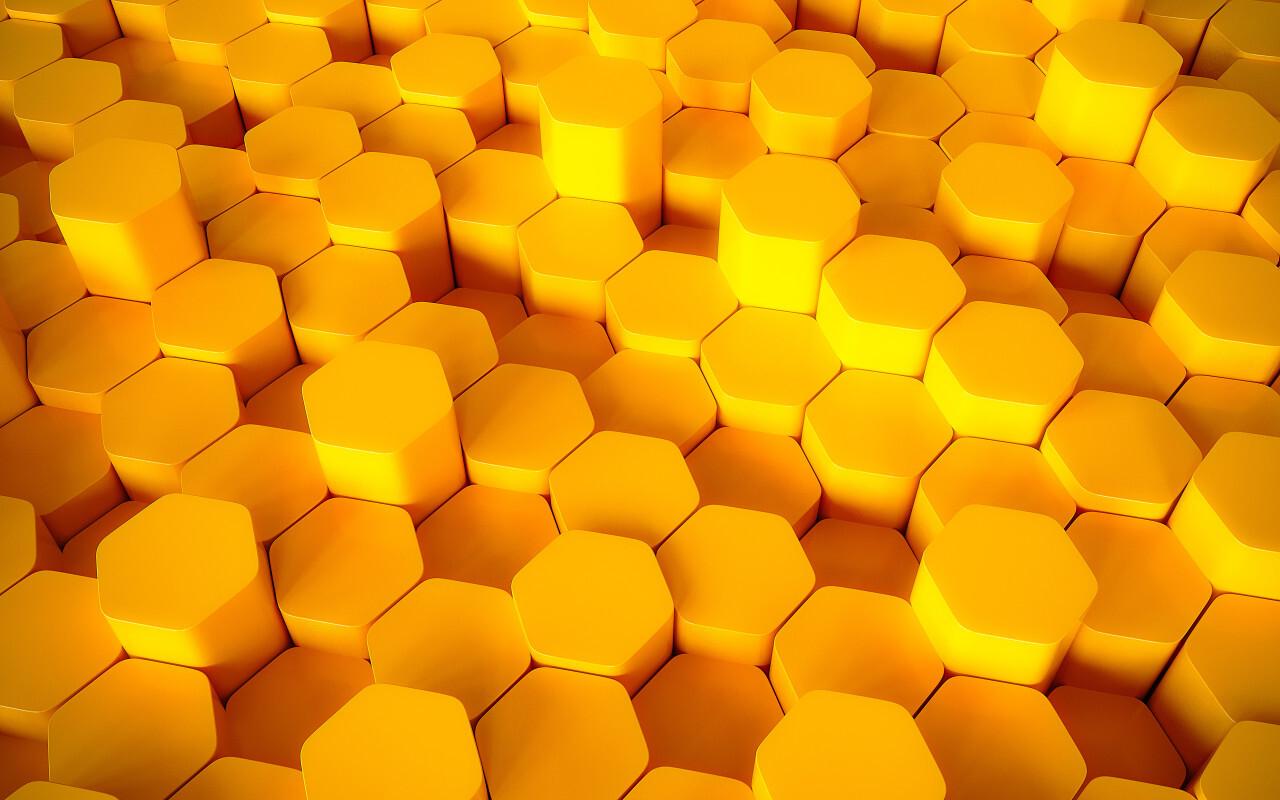 3D lozengo texture background yellow