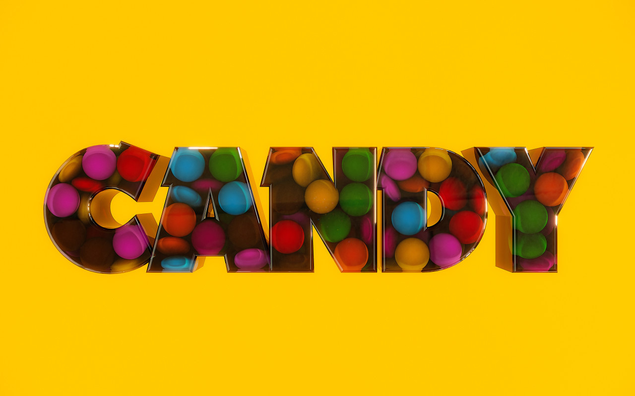 candy chocolate buttons text