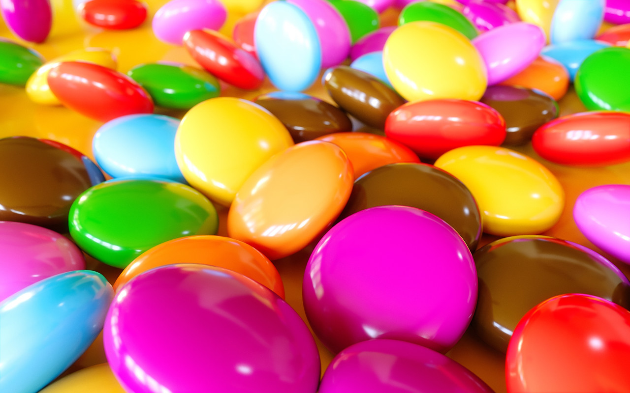 chocolate buttons colorful