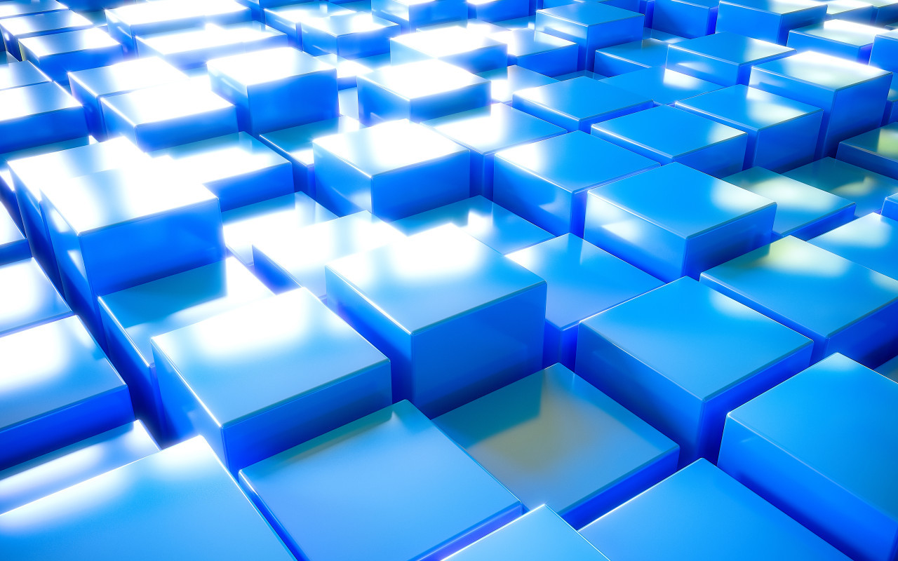 3D cube texture background blue