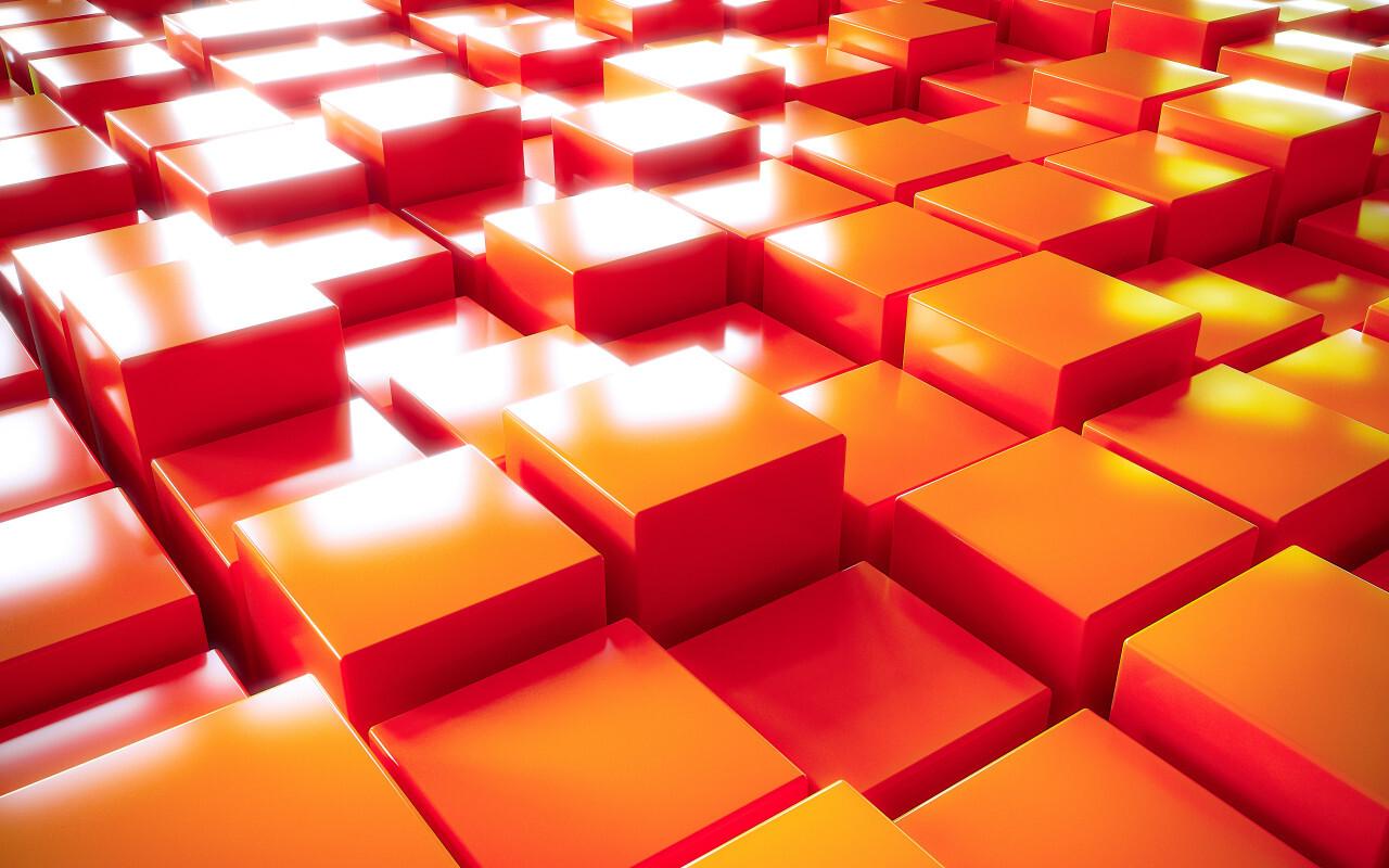 cube texture background red orange