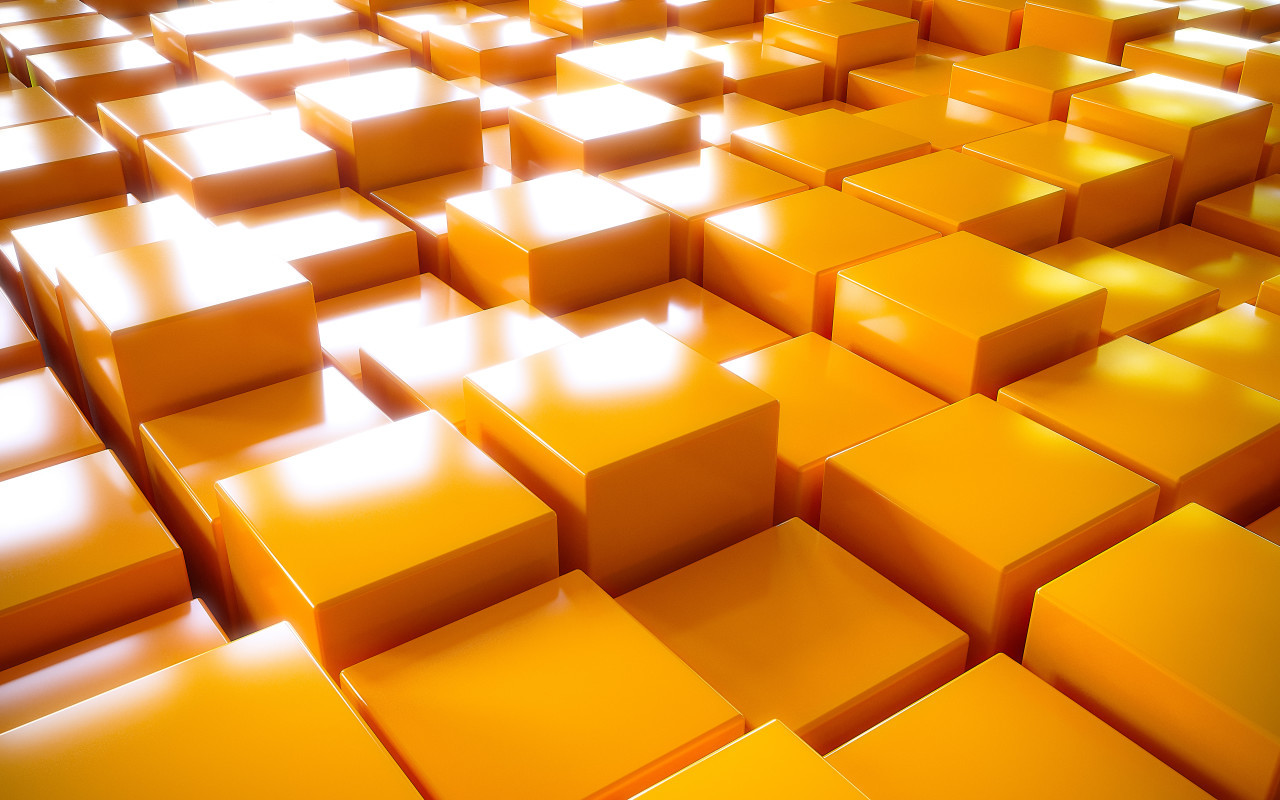 cube texture background yellow