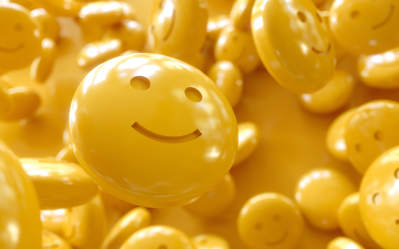 yellow happiness emoticon