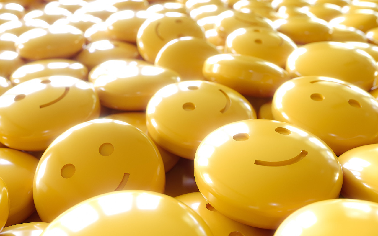 yellow happiness emoticons
