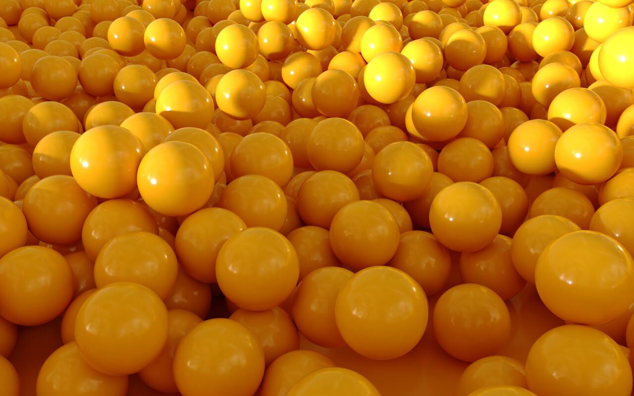 yellow balls background