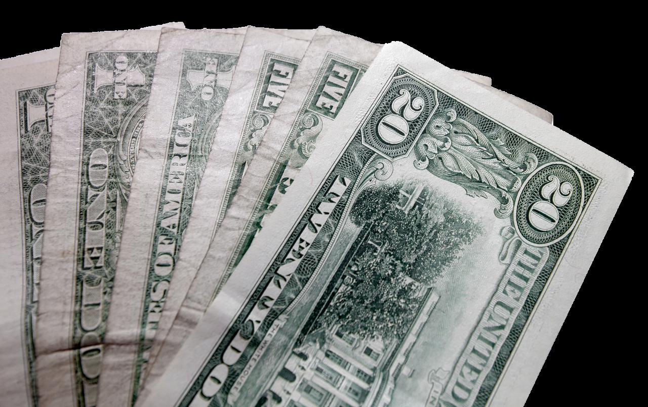 dollar banknotes transparent PNG