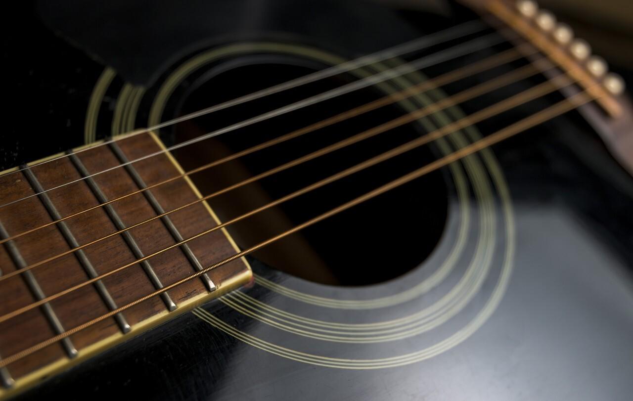black western guitar