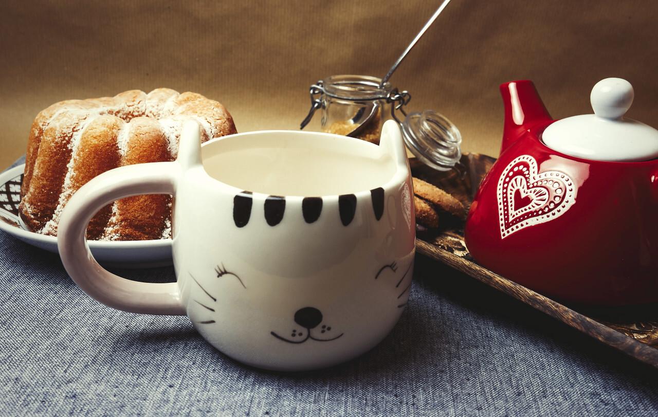 Lemon gugelhupf with icing sugar - coffee, cookies and cake