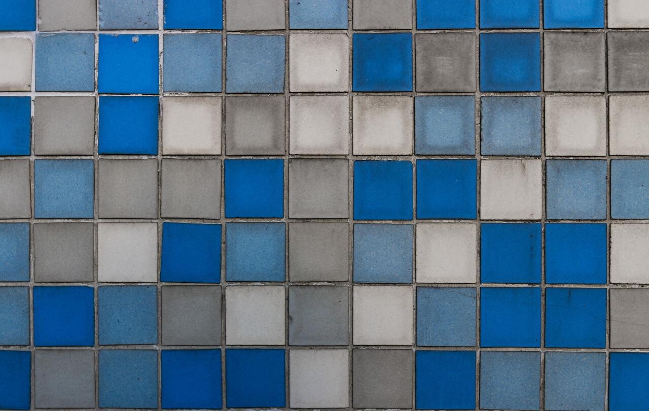 blue white tiles texture