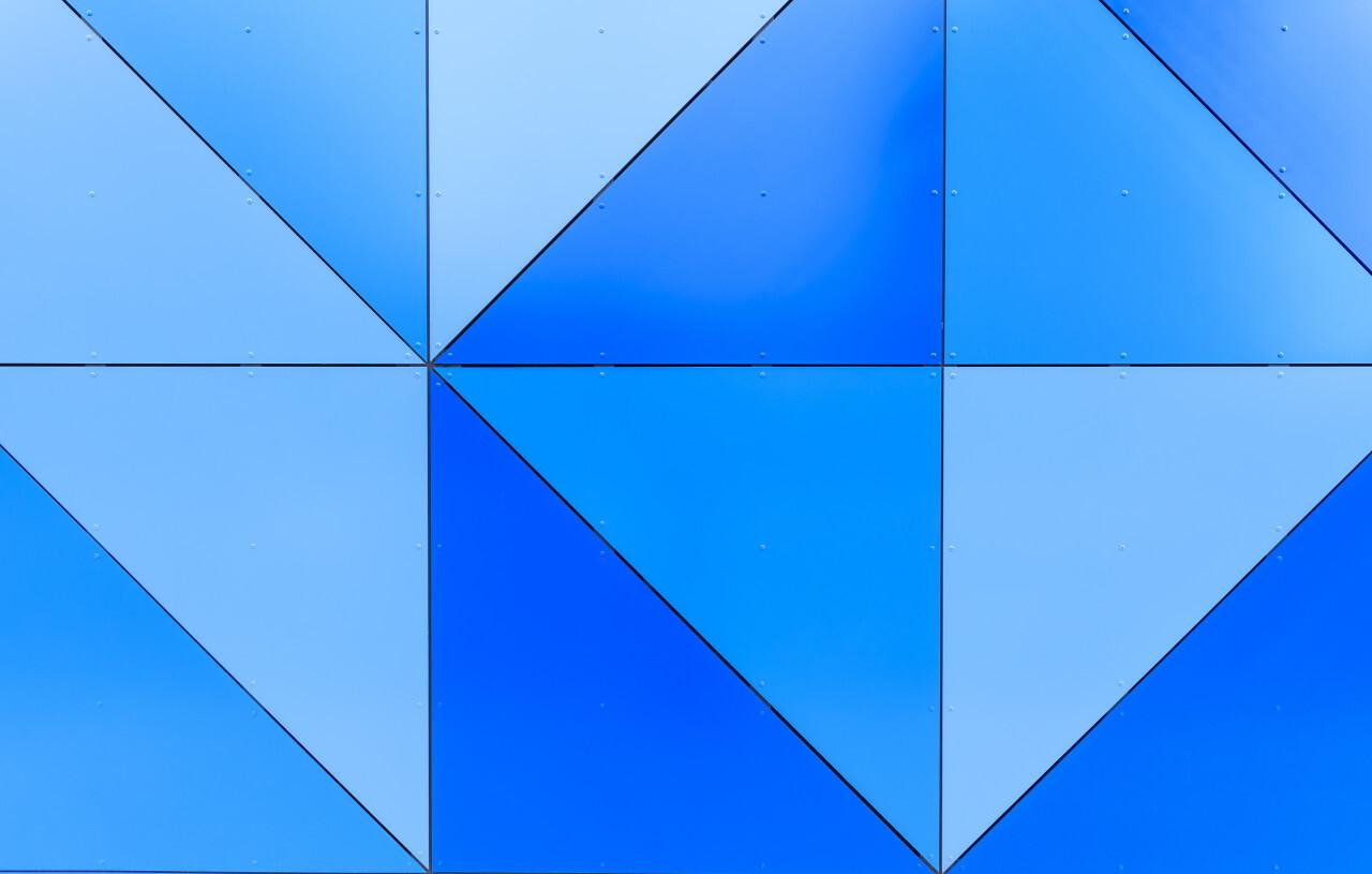 modern blue wall business background