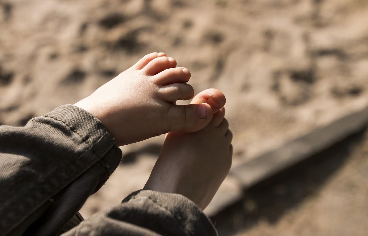 small cute childrens feet
