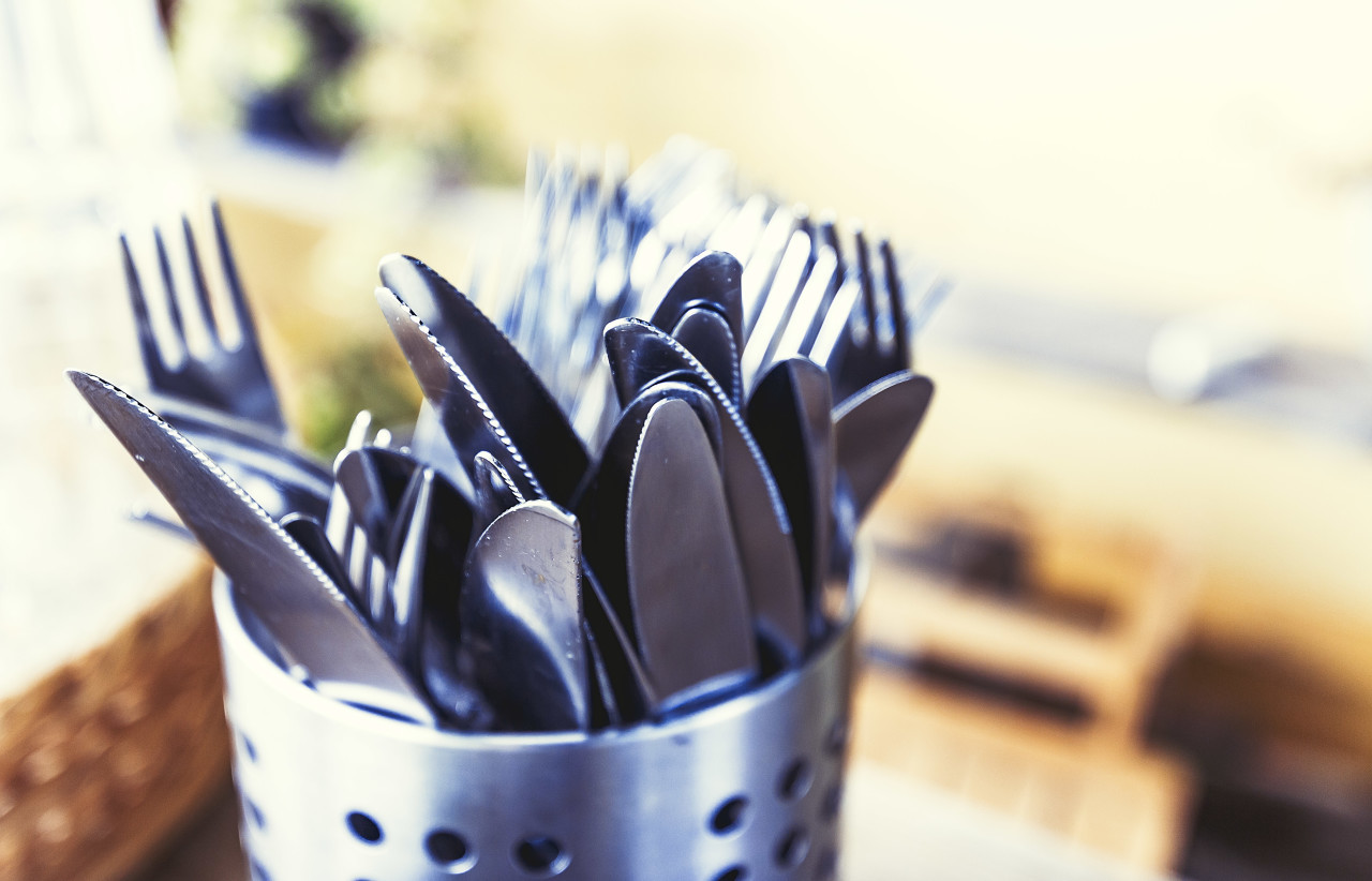 Knives and forks cutlery