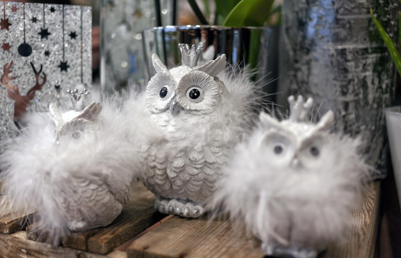 cute snow owl christmas decoration