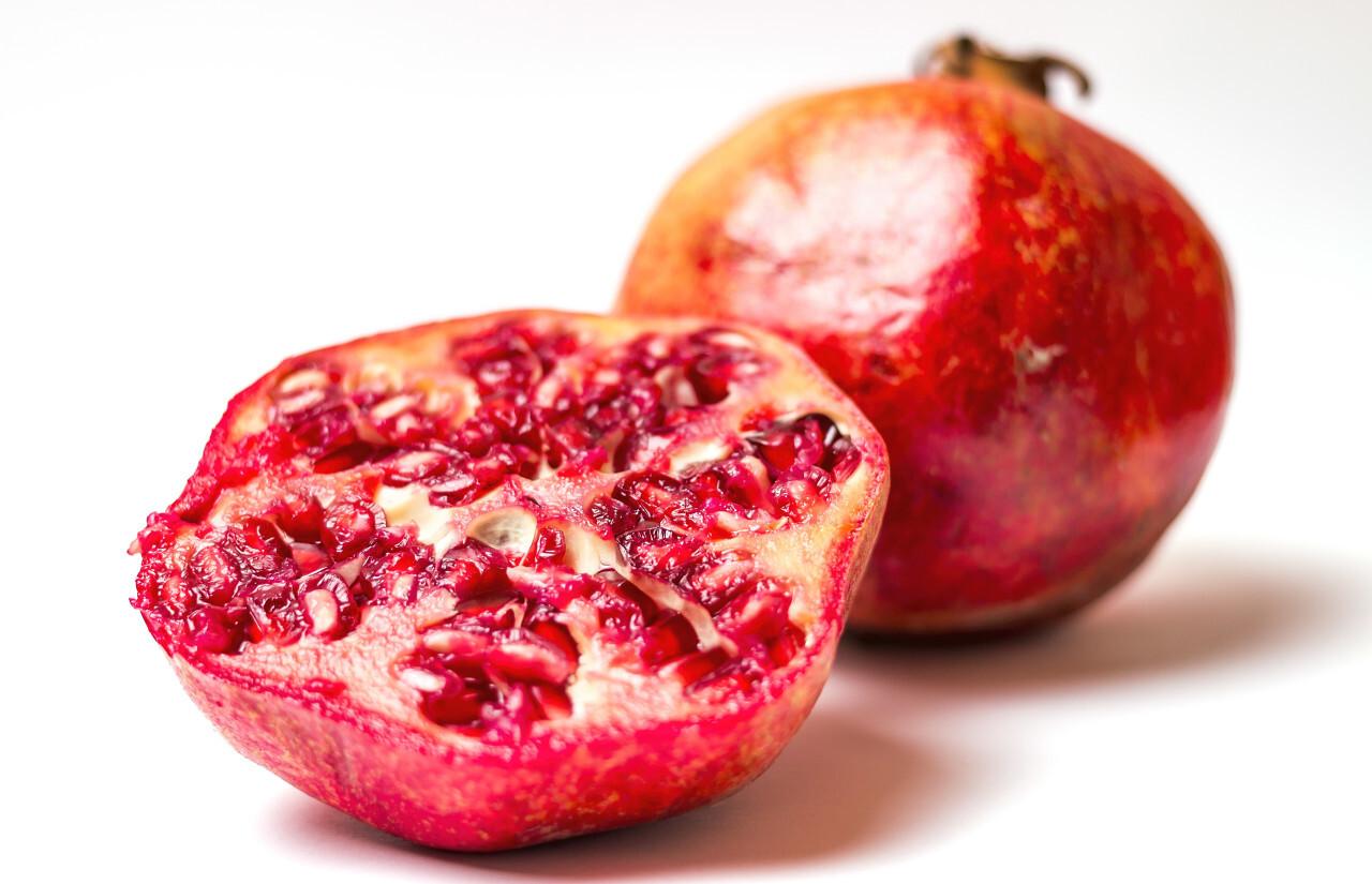 pomegranate white background