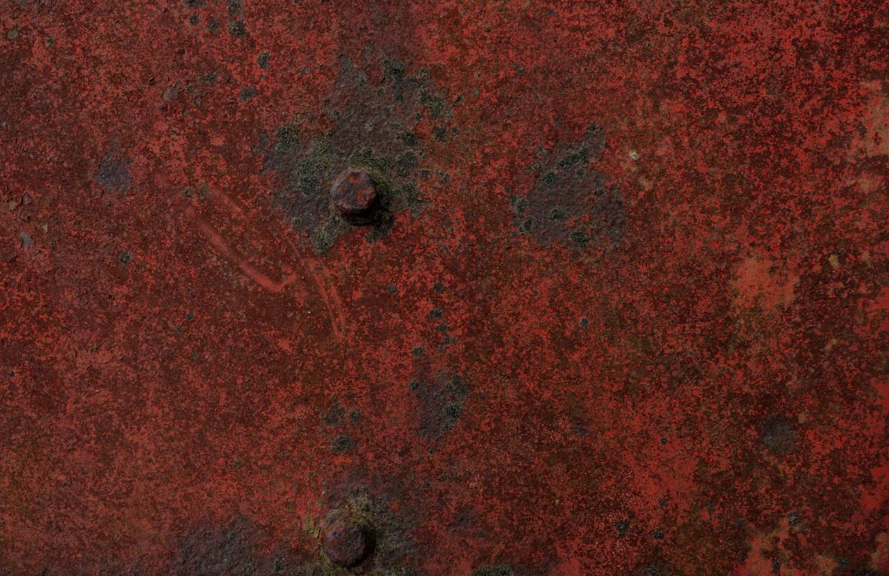 Grunge red metal texture