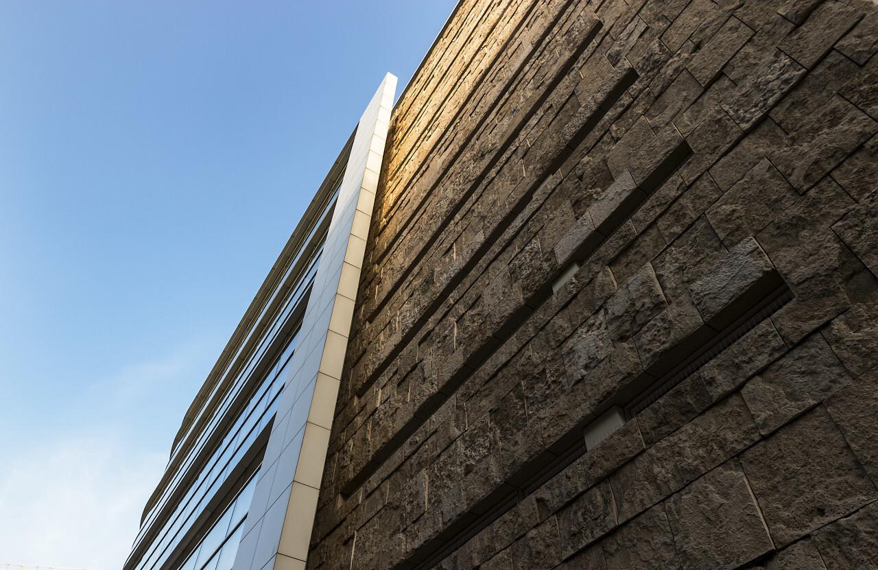 modern building stone facade