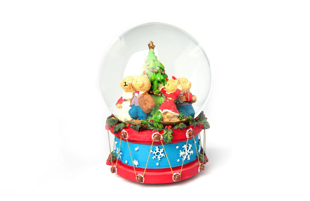 Christmas Snow globe isolated on white