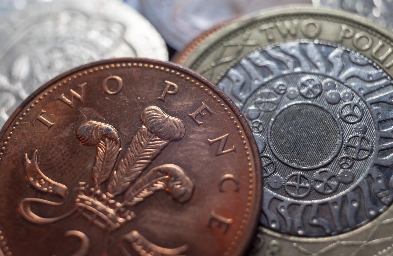 UK pound money coin background