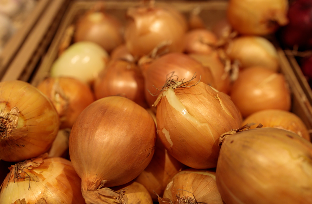 Onions in the supermarket