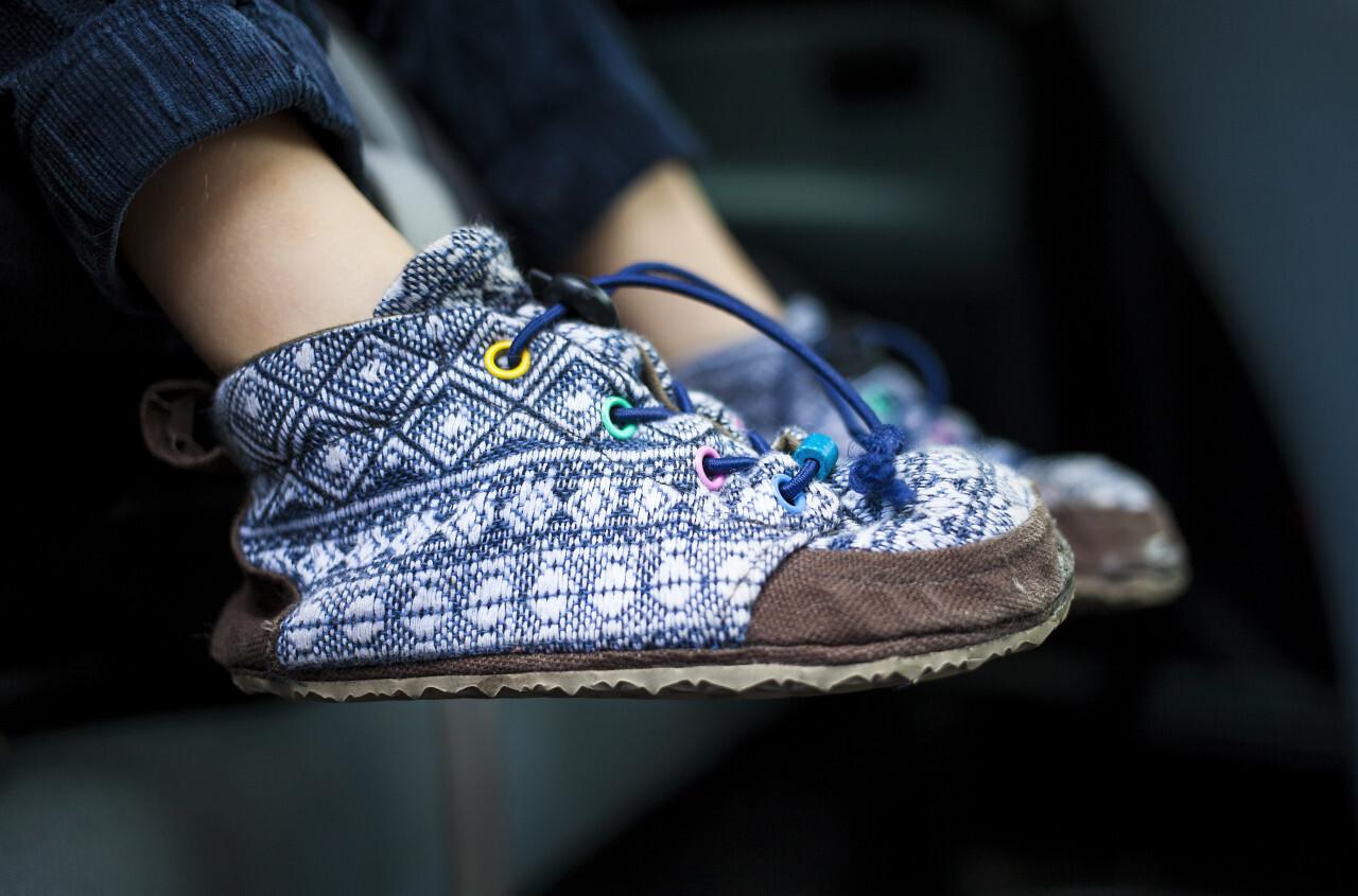 homemade children's shoes