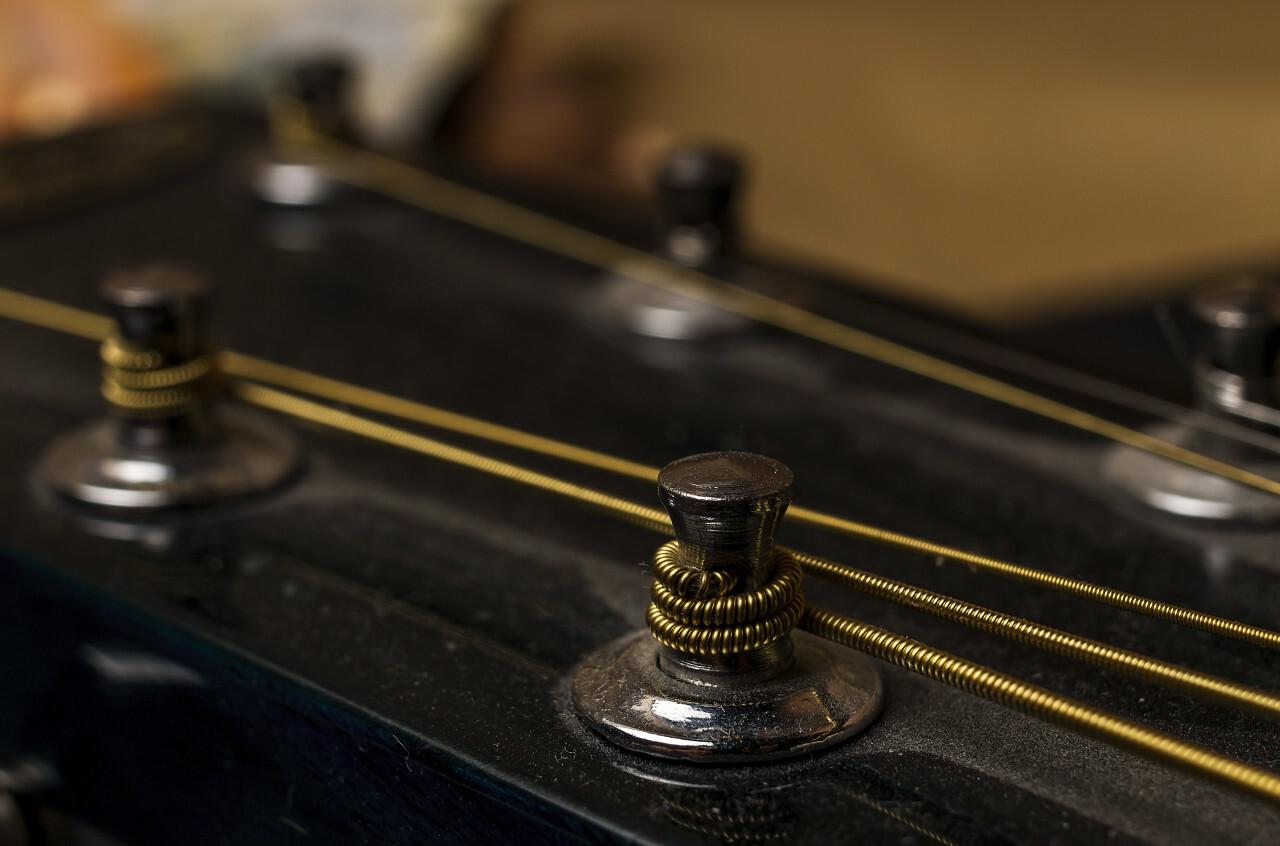 guitar strings detail