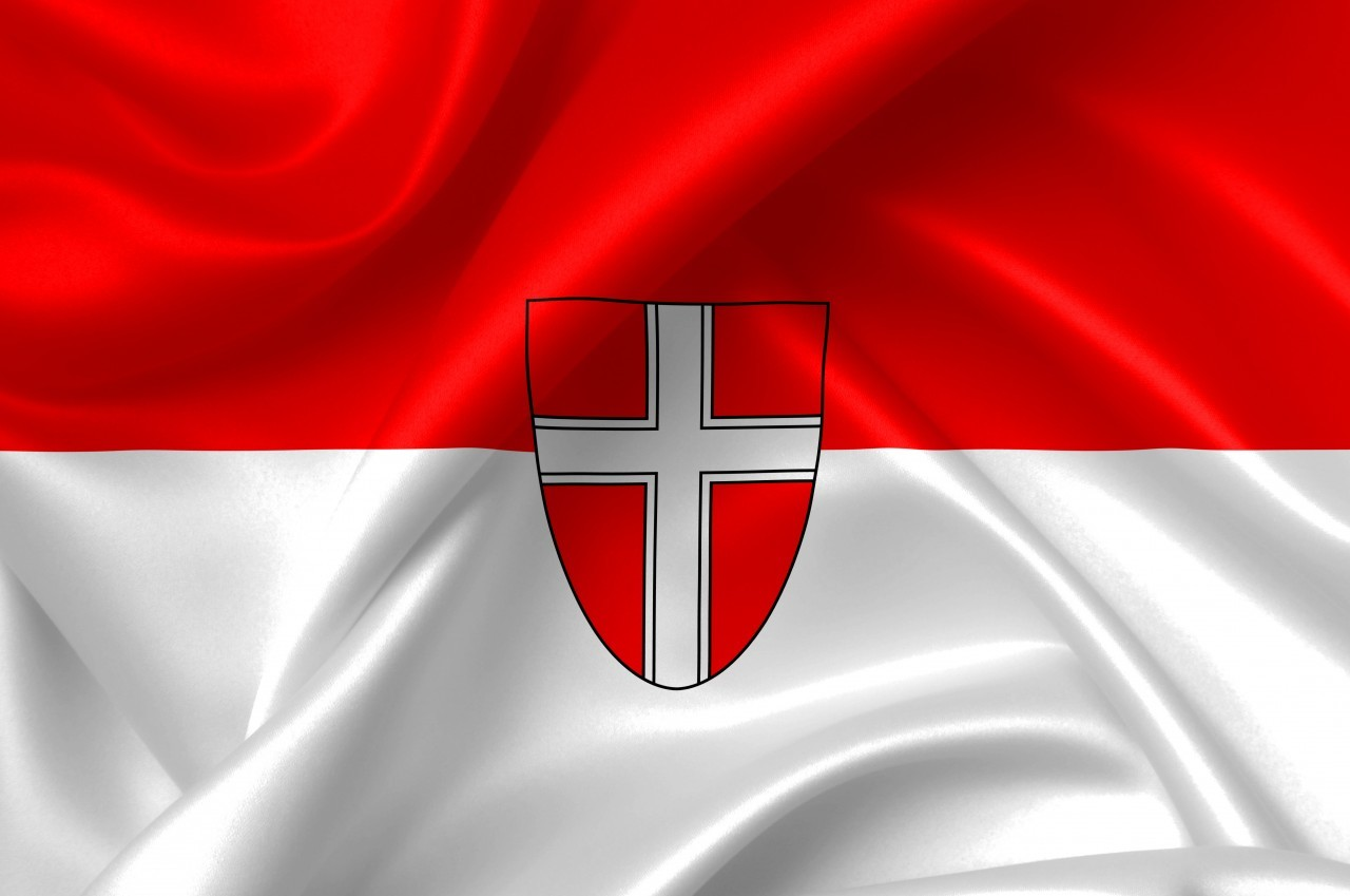 flag of vienna country symbol illustration