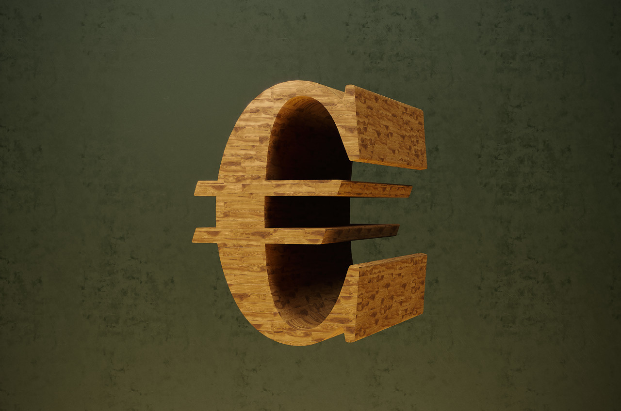wooden euro sign
