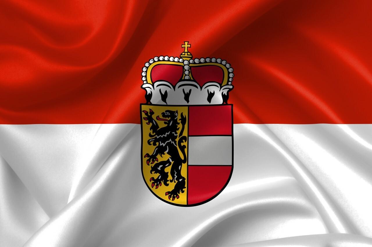 flag of salzburg country symbol illustration