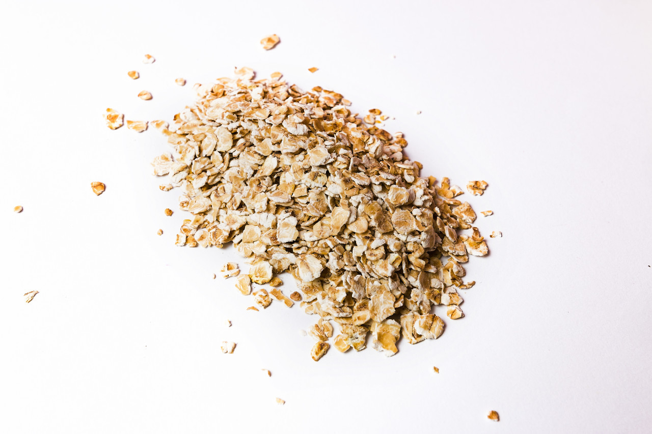 oatmeal on an white background