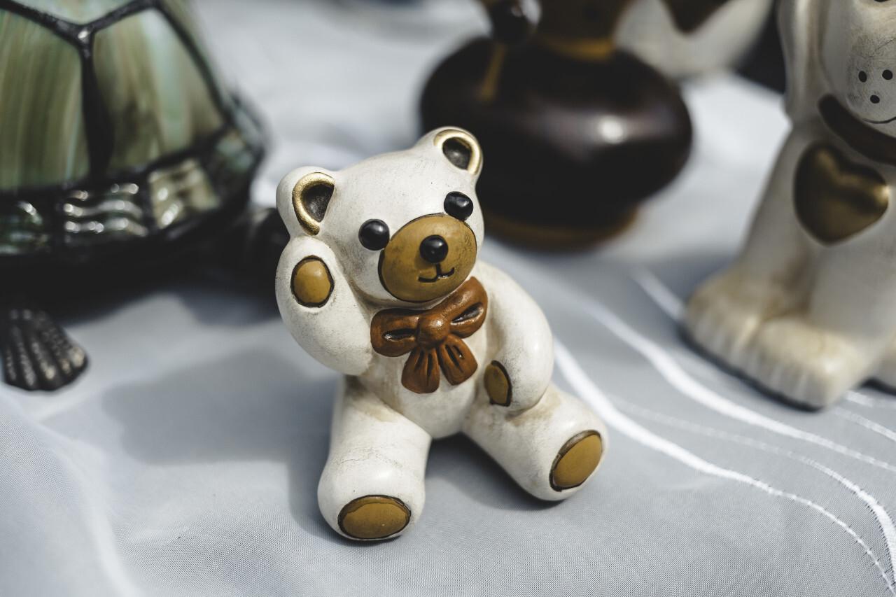 old vintage teddy at a flea market